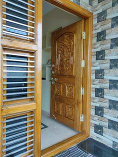 Single Door Design, Wooden Front Door Design, Double Door Design, Wooden Front Doors, Gate Wall Design, Home Stairs Design, Door Design Interior, Luxury Homes Exterior, Door Frames