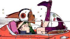 tank girl and booga Black Cartoon Characters, Comic Book Characters, Cartoon Art, Tank Girl Comic, Jamie Hewlett Art, Jet Girl, Architecture Tattoo, Cartoon Crossovers, Funny Art