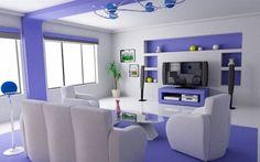 Futuristic living room design inspo in purple lilac lavender hue #interior #design #home #decor #homedecor