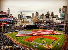 April 8, 2016 - Opening Day at Comerica Park, the home of the Detroit Tigers.