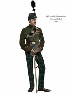 Officer of the Cameronians by stocax on DeviantArt British Army Uniform, British Uniforms, Military Art, Military History, Military Costumes, Military Uniforms, Art Quotes Funny, Drum Major, Army & Navy