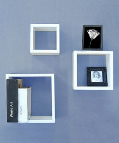 Take a look at this White Wall Cube Shelf Set by Organize It All on #zulily today!
