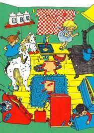 'Pippi Longstocking' (Astrid Lindgren) by Ingrid Vang Nyman Circus Strongman, Pippi Longstocking, Nostalgia, Moomin, Art For Art Sake, Chapter Books, Illustrations And Posters, Children's Book Illustration, Conte
