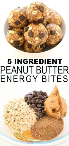 5 Ingredient Peanut Butter Bites: These healthy nutritious bite sized delights are perfect for snacks, post - workout, lunchboxes and even breakfast! With just 5 simple protein packed natural ingredients, they will keep you and the kids satisfied until lu Peanut Butter Energy Bites, Healthy Energy Bites, Protein Bites, Whey Protein, High Protein, Snacks Saludables, Healthy Meal Prep, Eating Healthy, Healthy Dinner Recipes