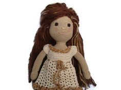 13.8 doll Amigurumi doll Crochet doll Stuffed toy by EAbyCrochet