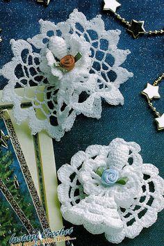 Crochet Pattern ~ ANGEL ORNAMENT & ANGEL PIN Christmas ~ Instructions