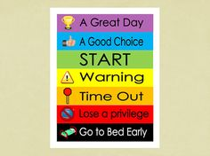 At home behavior chart for kids - we're out of control & going to ...