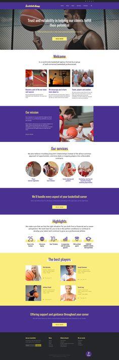 Website Theme , Basketball