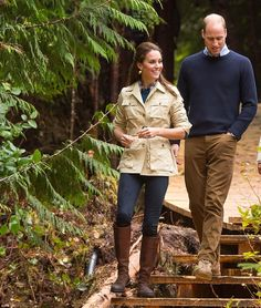 Catherine, Duchess of Cambridge and Prince William, Duke of Cambridge in Bella Bella (Campbell Island), BC, Victoria, during the third day of their tour of Canada.