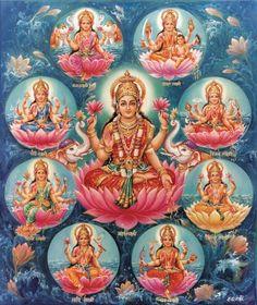 Hindu Cosmos - Ashta Lakshmmi (via Dictionnaire de Sahaja Yoga)