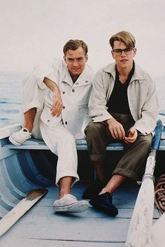 Jude Law and Matt Damon in The Talented Mr Ripley