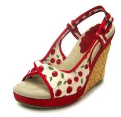 SALE! Item#40027 Pin Up Cherry Print Shoes - Size 6 thru 10 review | buy, shop with friends, sale | Kaboodle