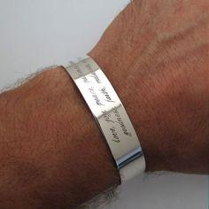 Bracelets For Ladies  :    Mens Silver Bracelet – Personalized Cuff Bracelet for Men – Custom Quote Bracelet for Him – Sterling Silver Wide Cuff Bracelet – Mens Gifts  - #Bracelets https://talkfashion.net/acceseroris/bracelets/bracelets-for-ladies-mens-silver-bracelet-personalized-cuff-bracelet-for-men-custom-quote-bracele/