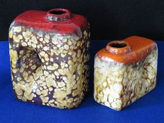 West German Fat Lava period CHIMNEY VASES by Marei/Roth