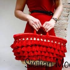 Risultati immagini per coffa siciliana Summer Bags, Handmade Bags, My Bags, Diy Tutorial, Couture, Straw Bag, Shoe Bag, Creative, Womens Fashion