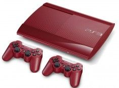 Sony Playstation 3 Console New Slim 500 GB Red Rossa    2x Dualshock 3