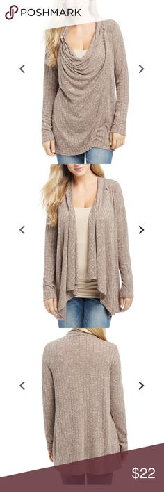 Motherhood Maternity Pull Over Wrap Nursing Top Worn once...like new! Nursing Top Long Sleeve Pull Over Nursing Function Wrap Poly / Rayon / Spandex Machine Washable. Color is taupe Motherhood Maternity Sweaters Cardigans