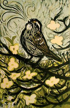 Spring Song - Woodcut by Kent Ambler