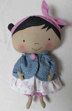 poupée Tilda sweetheart avec nez et bouche