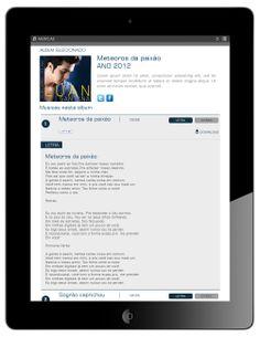 Músicas/Letras - Formato Ipad