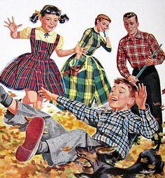 Autumn Family Fun! ~ 1955