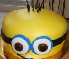Minion cake for Gregory's birthday
