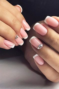 Cute Nail Design Ideas For Stylish Brides ❤ See more: http://www.weddingforward.com/nail-design/ #weddings