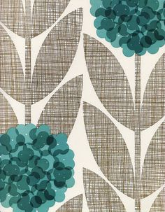 hmmm, i like the colors.... maybe for a bathroom? Orla Kiely wallpaper