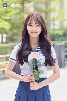 BAEK JI HEON - FROMIS and now the end is here and I will post the final Fromisian, my friends I state my case of which I'm certain, blah blah etc (but that is a different group! Asian Cute, Cute Korean, Korean Girl, Asian Girl, School Uniform Fashion, School Uniform Girls, Kpop Girl Groups, Kpop Girls, Korean Beauty