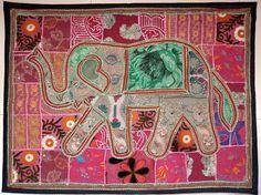 Christmas gift elephant bohemian patchwork by triveniartncrafts