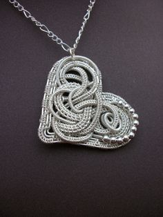 Silver Plated Filigree Wire Wrapped Heart by BuyThePlaceWithBeads