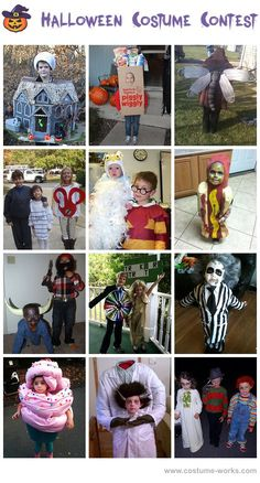 Homemade Costumes for Kids - a lot of homemade costume ideas!
