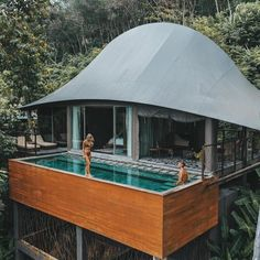 Perched above the treetops, these Thai villas at Keemala each have their own private plunge pools that look out onto the lush rainforests of Phuket. | Photo Credit: Lauren Bullen