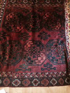 c 1900 Very old rug from Turkmenistan (NOT Turkey...but the influences