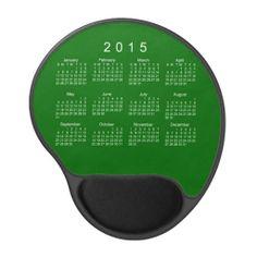 2015 Calendar by Janz Green Gel Mousepad