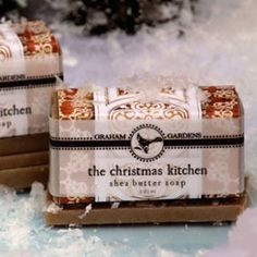 The Christmas Kitchen shea butter soap. Orange, nutmeg and clove...delightful!