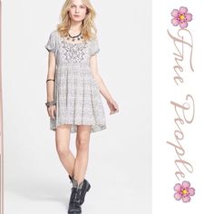 Free People Sundown Print Dress Channel winsome summer style in this charming baby doll dress in a mesmerizing moonstone print and finished with a daring t-strap back..100% Rayon Free People Dresses Mini
