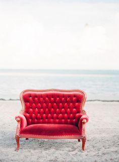 red velvet sofa ♡ teaspoonheaven.com