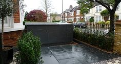 paving and bin tidy