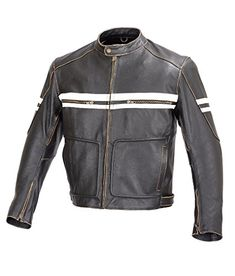 f8347a28e892 Shop a great selection of Xtreemgear Men Motorcycle Vintage Hand Buffed  Leather Armor Jacket Black (M). Find new offer and Similar products for  Xtreemgear ...