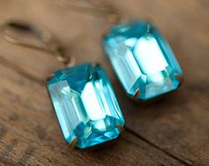 Valntine's Day Earrings Gift Idea Vintage by NotOneSparrow on Etsy