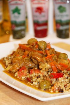 Moroccan Chicken, Lemon and Olive Tagine with Pearl Cous Cous.