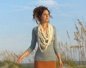 I kinda like this...longer than a traditional infinity scarf. GREAT GIFT - Squid Scarf (organic hemp/cotton blend)