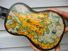 Pirate map on back of uke. Love it!