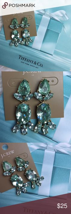 NWT J. Crew statement earrings Brand new big j crew earrings comes with pouch J. Crew Jewelry Earrings