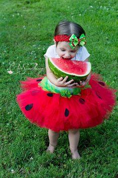 Watermelon Tutu, First Birthday baby tutu, Photo Prop Tutu, Childrens Toddler tutu, Birthday, red lime green watermelon tutu on Etsy, $36.00