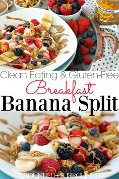 The BEST Breakfast Banana Split | This healthy, easy, and clean eating recipe makes the perfect breakfast or snack. MaraNatha Almond Butters pair perfectly with protein-packed plain Greek yogurt, tasty fruit, and gluten-free granola! Kids and adults will love this for a fun dessert too, maybe add a few chocolate chips! If you need a break from eggs, smoothies, and oats try this low carb weight loss idea to kick up your mornings! #StartAHealthyRelationship #AD #CollectiveBias #breakfast