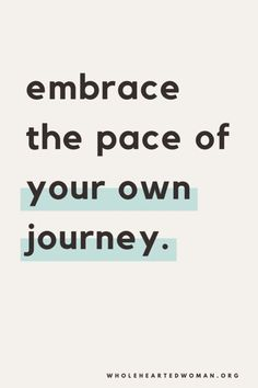 Your own journey.