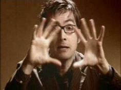 David, as The Doctor, explains to us how time works. #WibblyWobbly