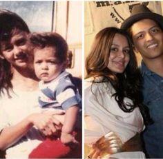 Jaime and bruno Bruno Mars Family, Bruno Mars Concert, Inspiring People, Carrot, Famous People, Hawaiian, Ears, Blessed, Bedroom